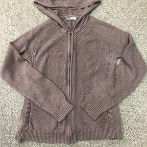 REI Hoodie Sweater Zip Up M Brown
